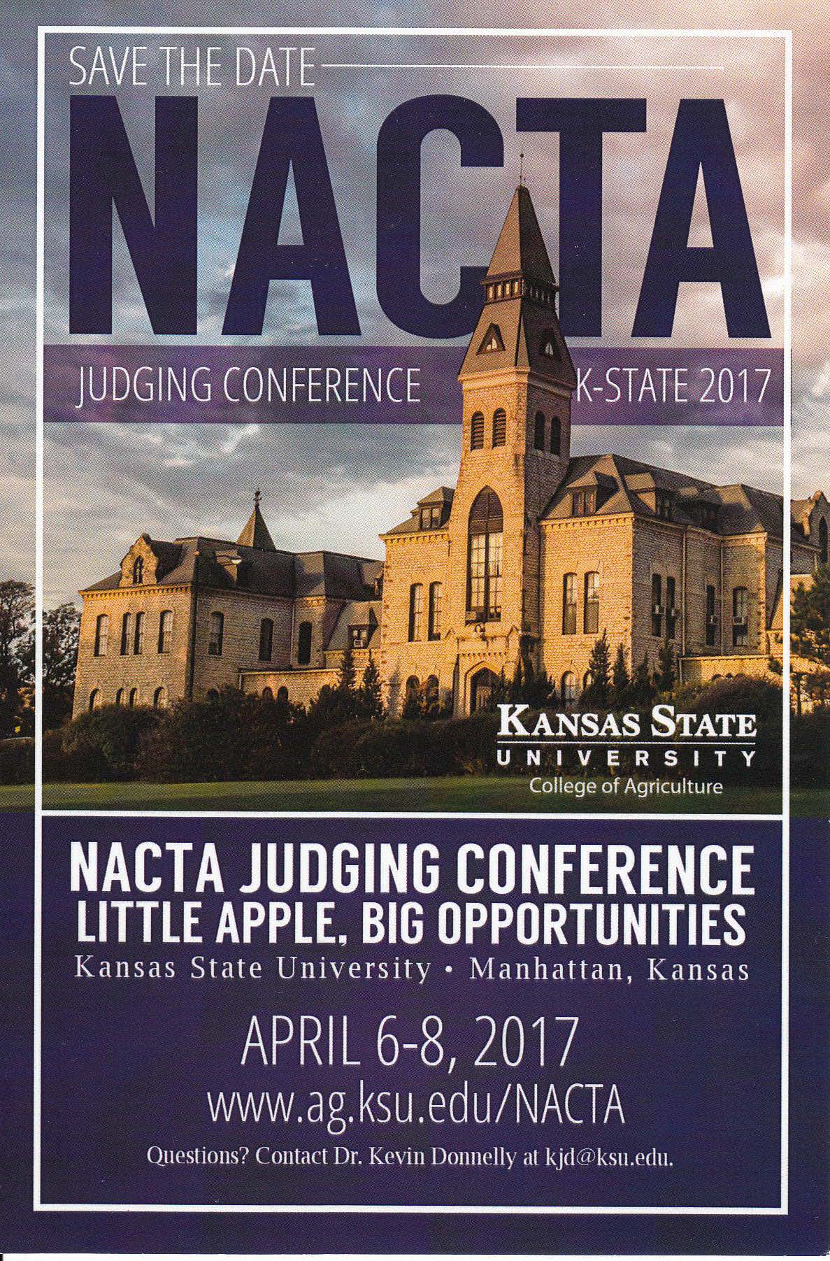 NACTA Judging Conference 2017KSU save the date CROPPED