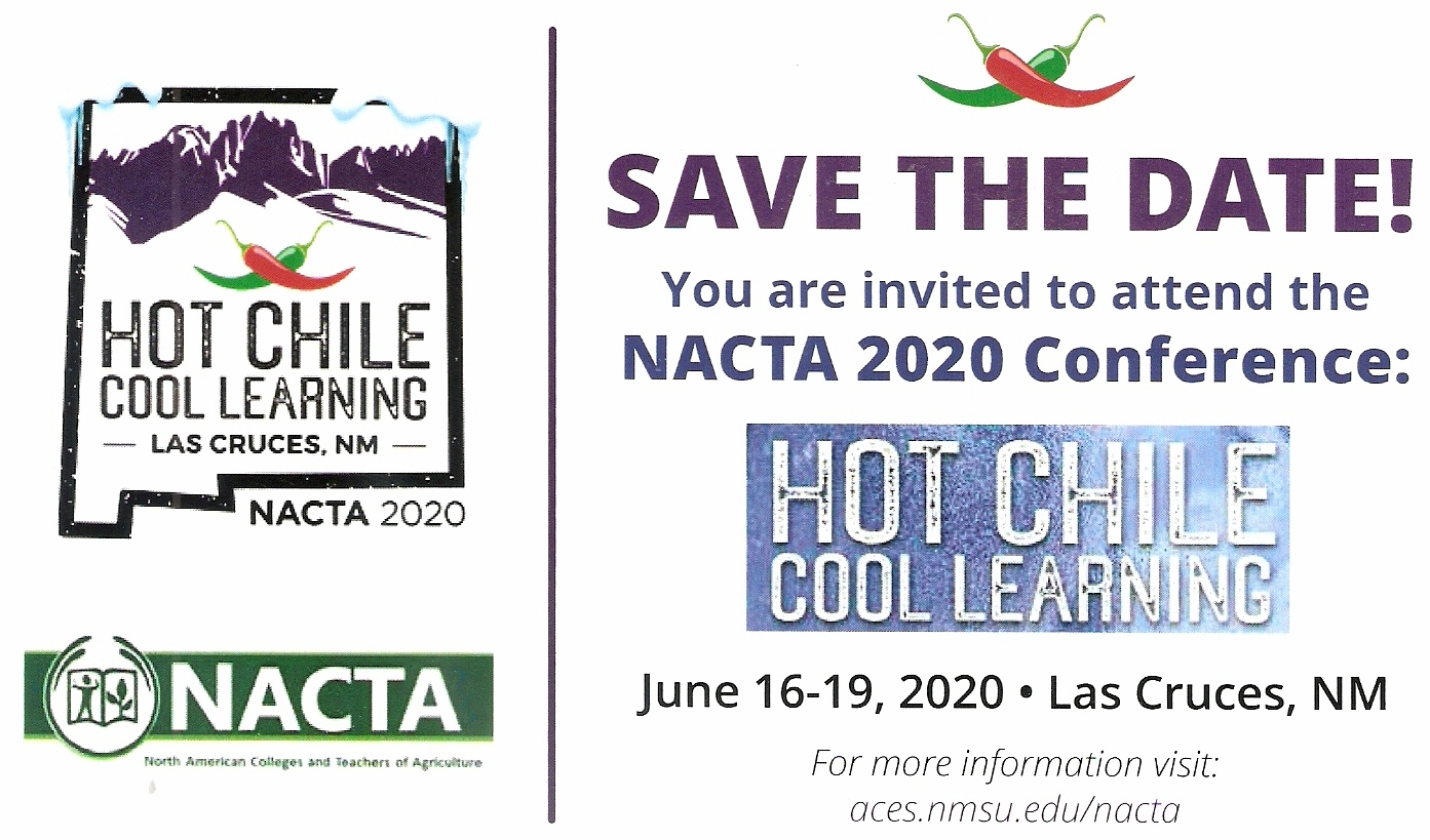 2020 NACTA Conference Save the Date Card